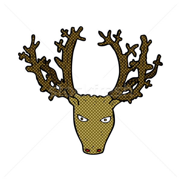 comic cartoon stag head Stock photo © lineartestpilot