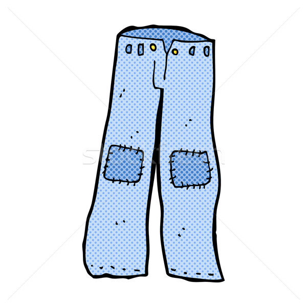 comic cartoon patched old jeans Stock photo © lineartestpilot