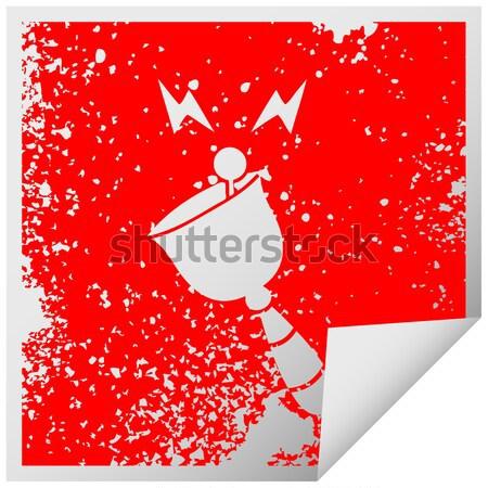Cartoon malutki Święty mikołaj dymka strony projektu Zdjęcia stock © lineartestpilot