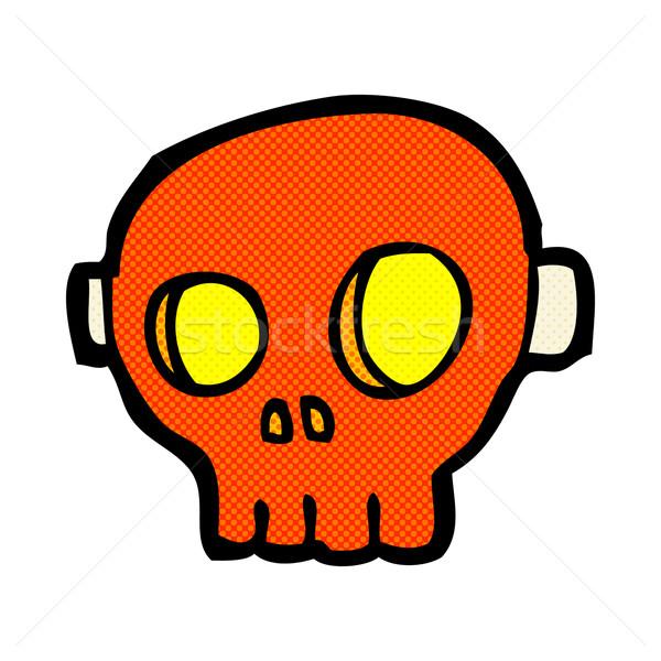 comic cartoon spooky skull mask Stock photo © lineartestpilot