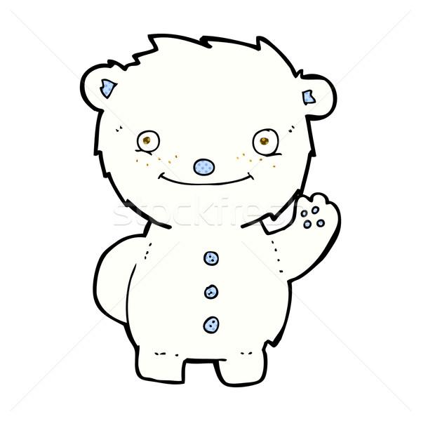 Cômico desenho animado urso polar retro Foto stock © lineartestpilot