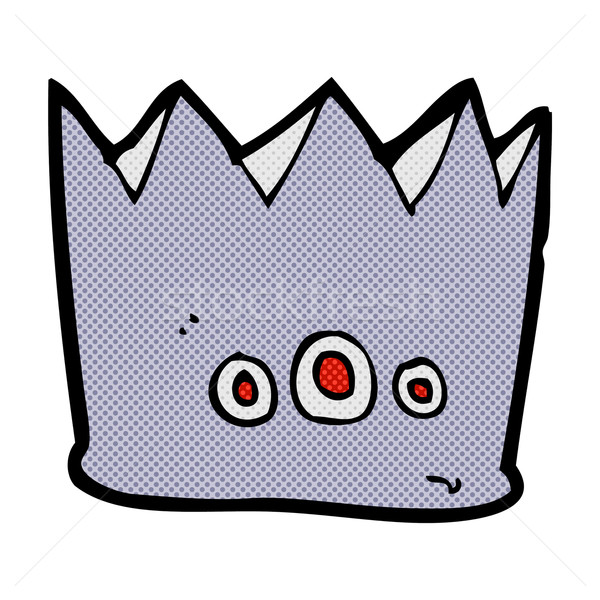 комического Cartoon корона ретро стиль Сток-фото © lineartestpilot