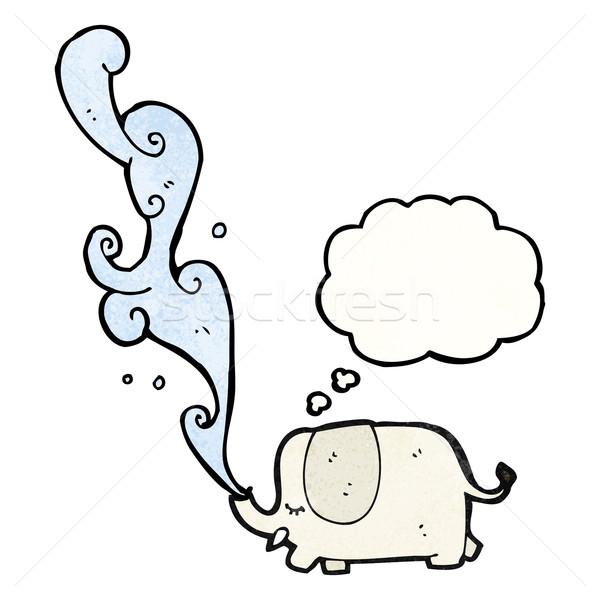 Słoń cartoon tekstury strony szczęśliwy rysunek Zdjęcia stock © lineartestpilot