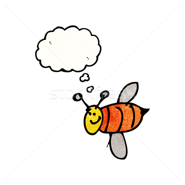 Stock photo: child's drawing of a bee