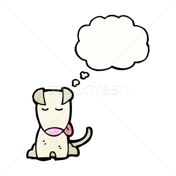 Cartoon piccolo cane retro pensare disegno Foto d'archivio © lineartestpilot