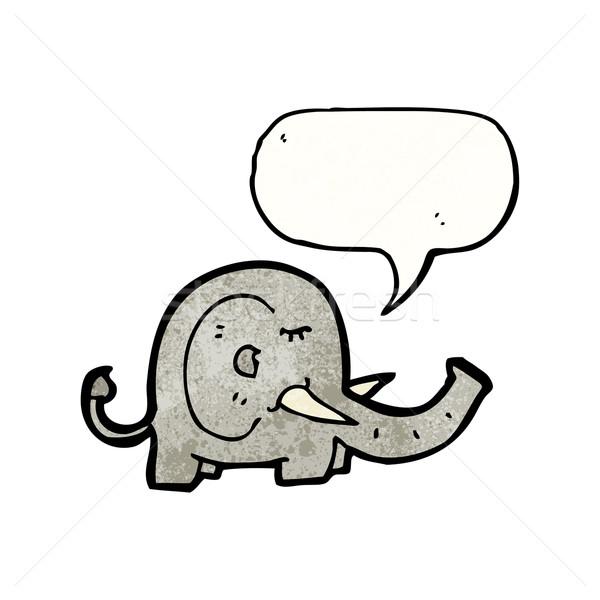 Cartoon słoń retro rysunek cute ilustracja Zdjęcia stock © lineartestpilot