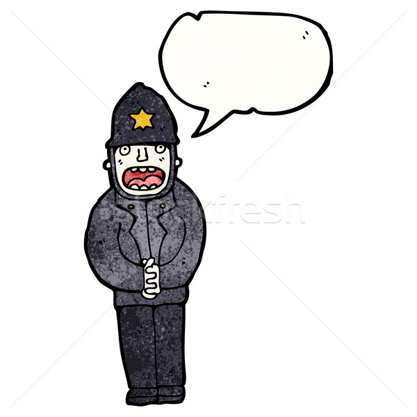 cartoon policeman Stock photo © lineartestpilot