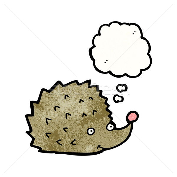 cartoon hedgehog with thought bubble Stock photo © lineartestpilot