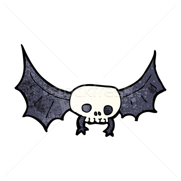 Cartoon schedel bat ontwerp kunst Stockfoto © lineartestpilot