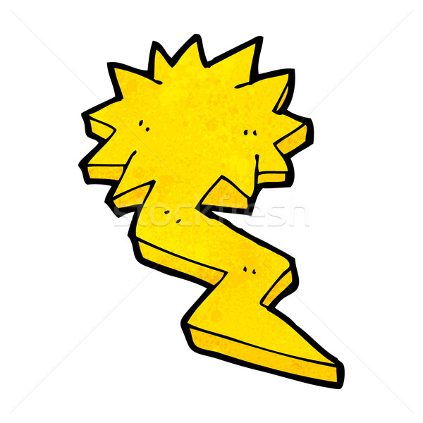 cartoon lightning bolt symbol Stock photo © lineartestpilot