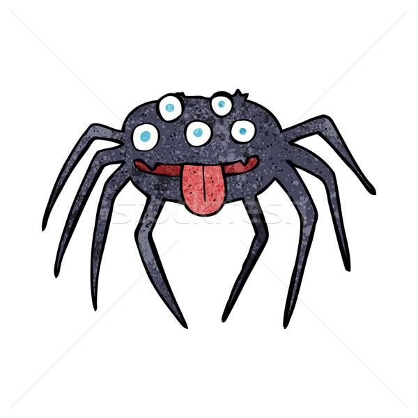 cartoon gross halloween spider Stock photo © lineartestpilot