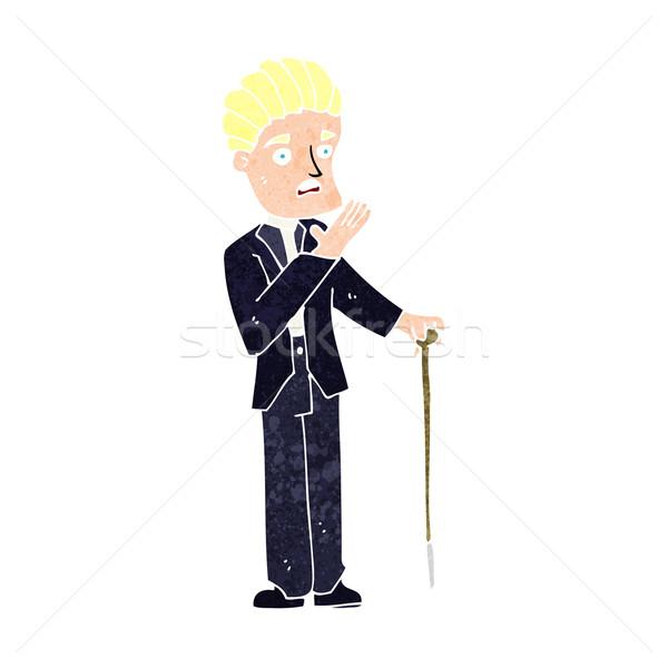 Desenho animado cavalheiro homem projeto arte Foto stock © lineartestpilot