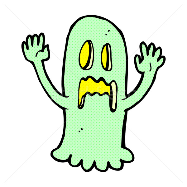 comic cartoon spooky ghost Stock photo © lineartestpilot