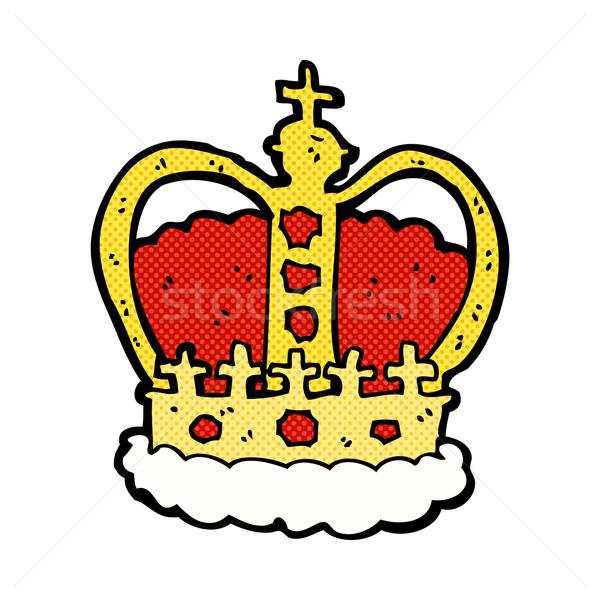 comic cartoon royal crown Stock photo © lineartestpilot
