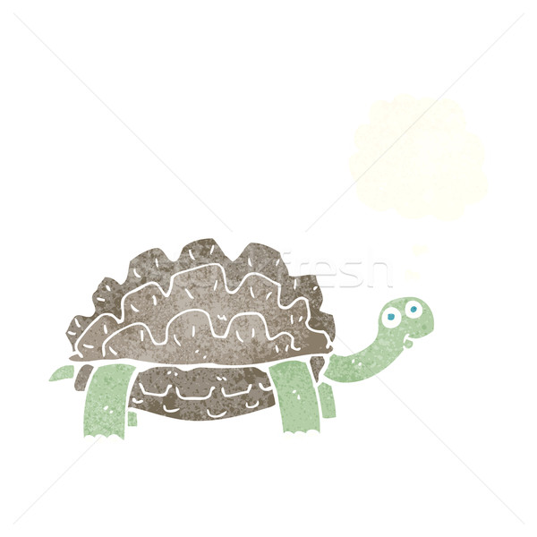 cartoon tortoise with thought bubble Stock photo © lineartestpilot