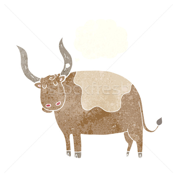 cartoon ox with thought bubble Stock photo © lineartestpilot