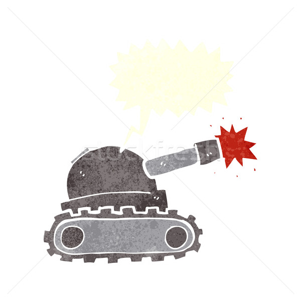 cartoon tank with speech bubble Stock photo © lineartestpilot