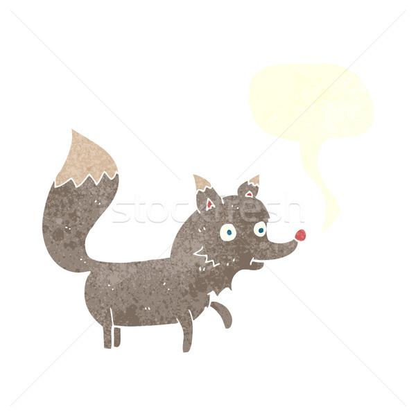 Rajz farkas medvebocs szövegbuborék kéz terv Stock fotó © lineartestpilot