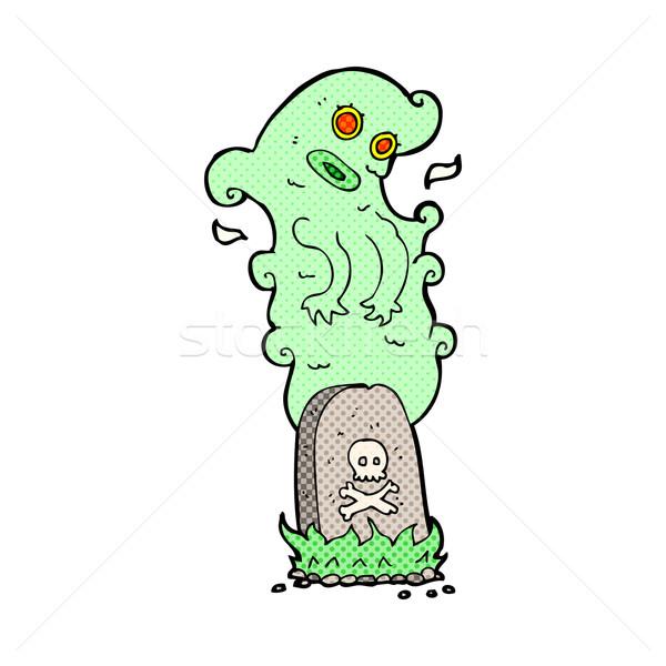 Komiks cartoon duch grobu retro Zdjęcia stock © lineartestpilot