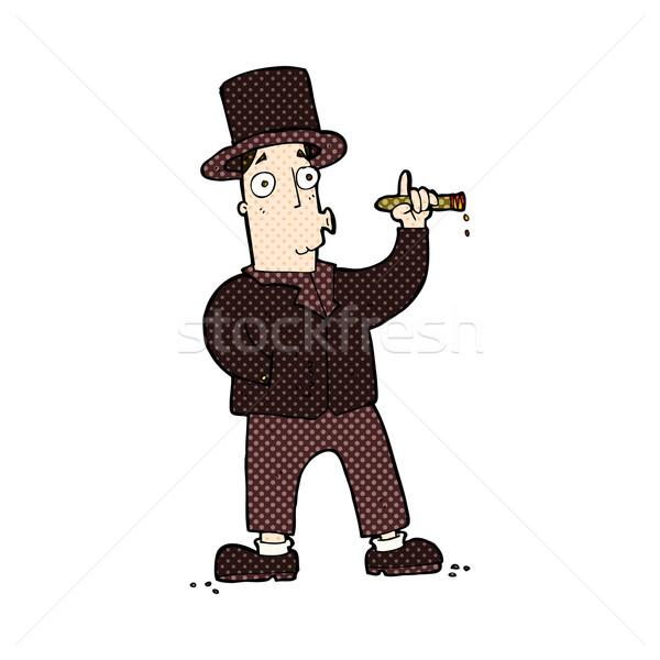 Dessinées cartoon fumer gentleman rétro Photo stock © lineartestpilot