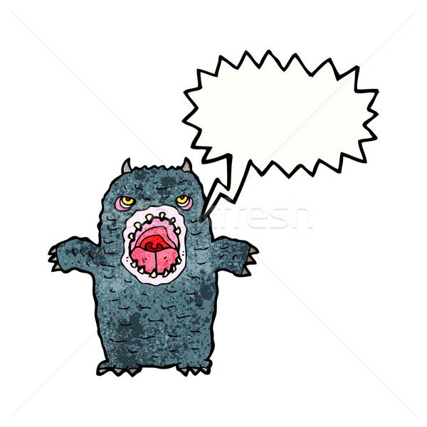 cartoon roaring monster Stock photo © lineartestpilot