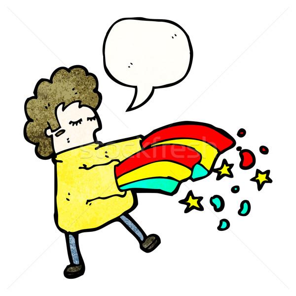 cartoon magic man Stock photo © lineartestpilot