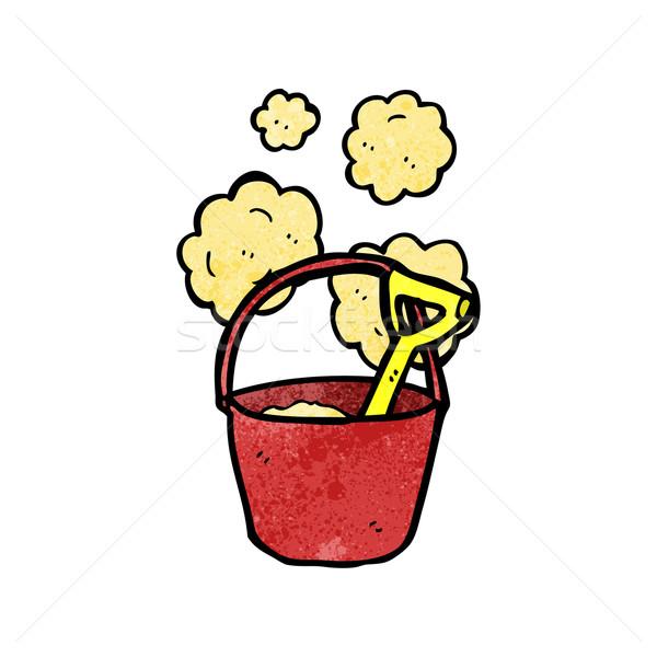 bucket and spade cartoon Stock photo © lineartestpilot