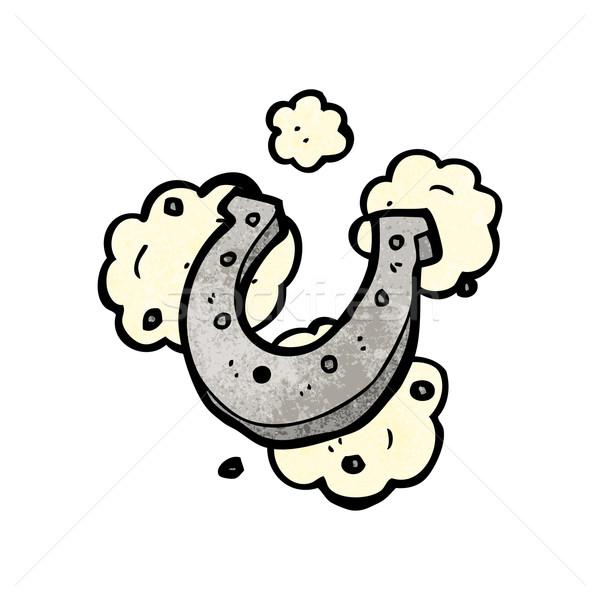 Chanceux Horseshoe symbole rétro dessin cartoon Photo stock © lineartestpilot