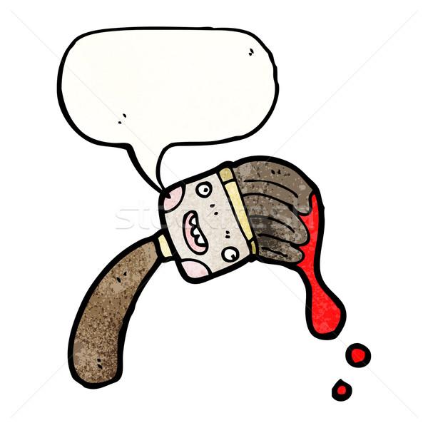 Karikatür Boya Fırçası Retro Fırçalamak çizim Sevimli
