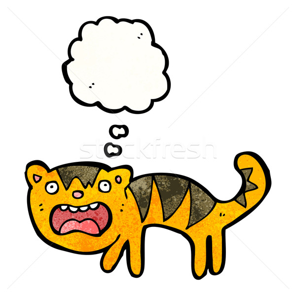 frightened tiger cartoon Stock photo © lineartestpilot