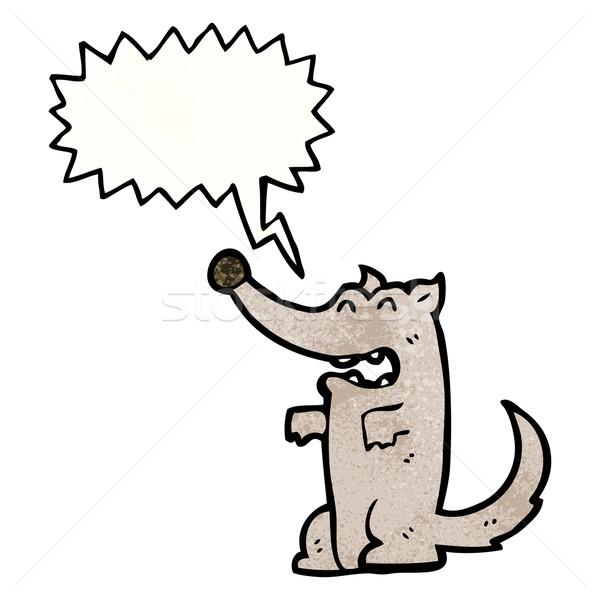 Cartoon мало волка искусства ретро рисунок Сток-фото © lineartestpilot