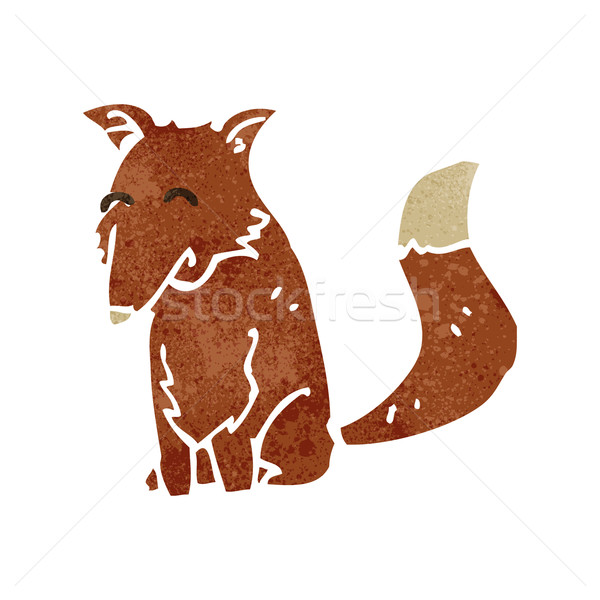 retro cartoon fox Stock photo © lineartestpilot