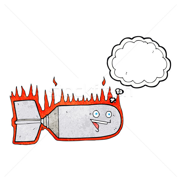 cartoon falling bomb with thought bubble Stock photo © lineartestpilot
