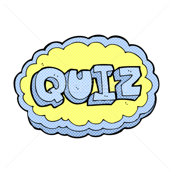 comic cartoon quiz sign Stock photo © lineartestpilot