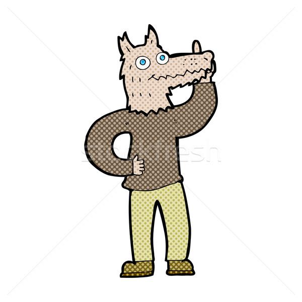 comic cartoon werewolf with idea Stock photo © lineartestpilot