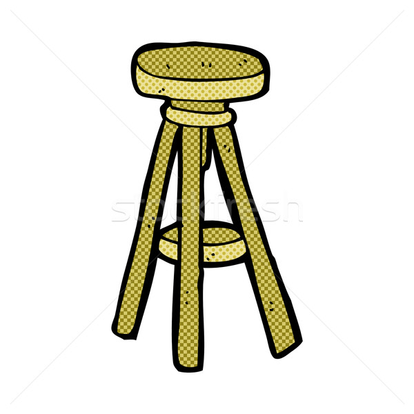 comic cartoon stool Stock photo © lineartestpilot