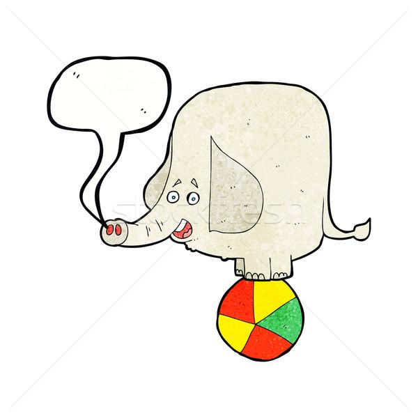 cartoon circus elephant with speech bubble Stock photo © lineartestpilot