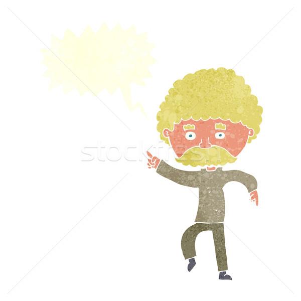 Cartoon zeventig stijl man disco dansen Stockfoto © lineartestpilot