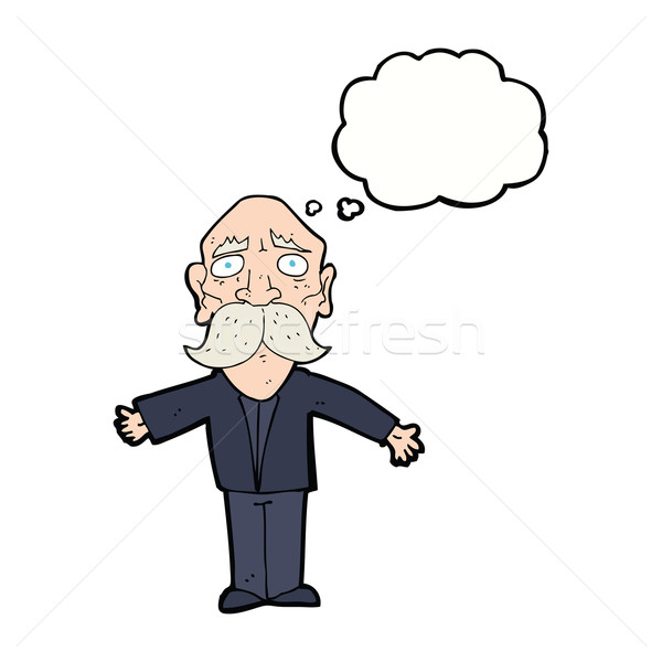 漫画 歳の男性 思考バブル 手 男 デザイン ストックフォト © lineartestpilot