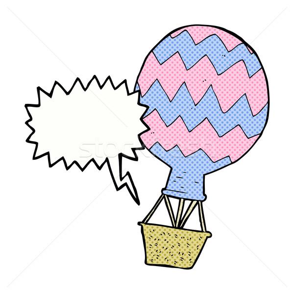 Cartoon воздушном шаре речи пузырь стороны дизайна искусства Сток-фото © lineartestpilot