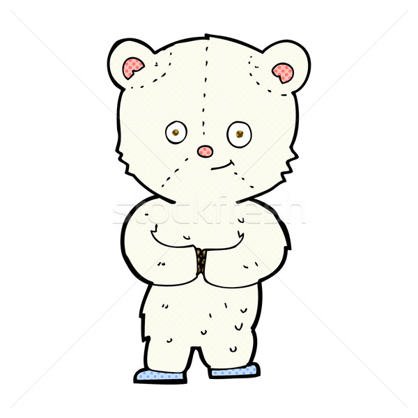 Képregény rajz plüssmaci jegesmedve medvebocs retro Stock fotó © lineartestpilot