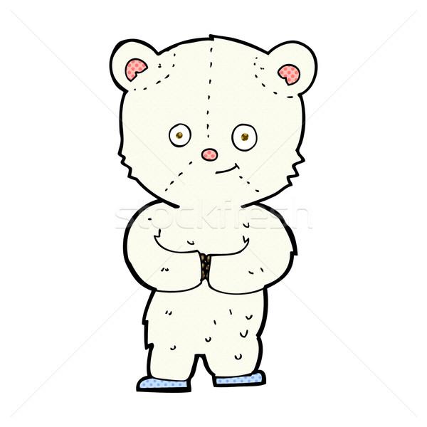 comic cartoon teddy polar bear cub Stock photo © lineartestpilot