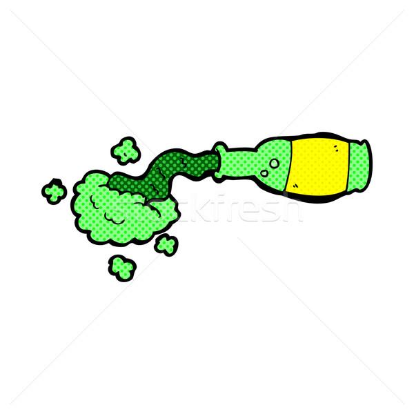 comic cartoon spilled green potion Stock photo © lineartestpilot