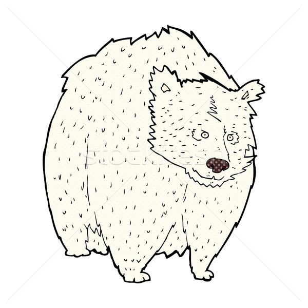 Enorme urso polar cômico desenho animado retro Foto stock © lineartestpilot