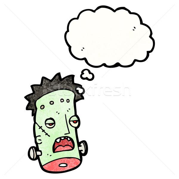 cartoon frankenstein monster head Stock photo © lineartestpilot