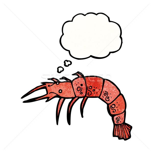 Desenho animado marisco falante retro pensando desenho Foto stock © lineartestpilot