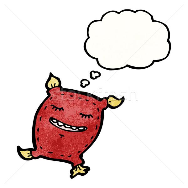 Cartoon подушка ретро мышления рисунок Идея Сток-фото © lineartestpilot
