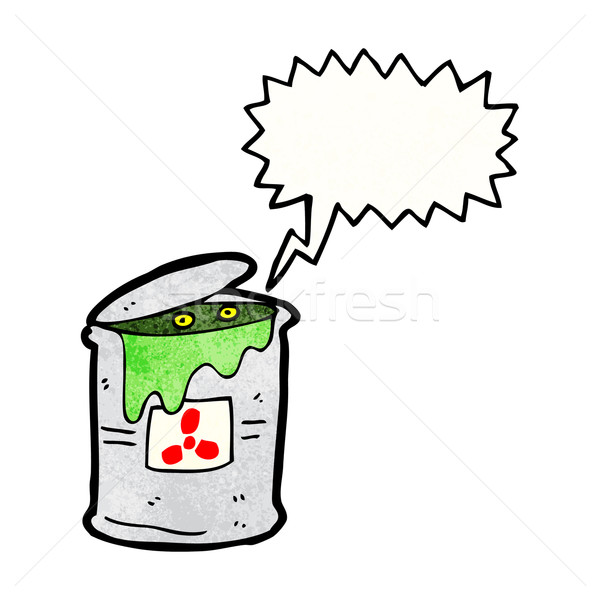 monster in toxic waste can cartoon Stock photo © lineartestpilot