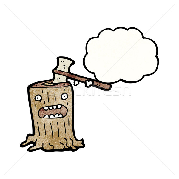 cartoon tree stump Stock photo © lineartestpilot