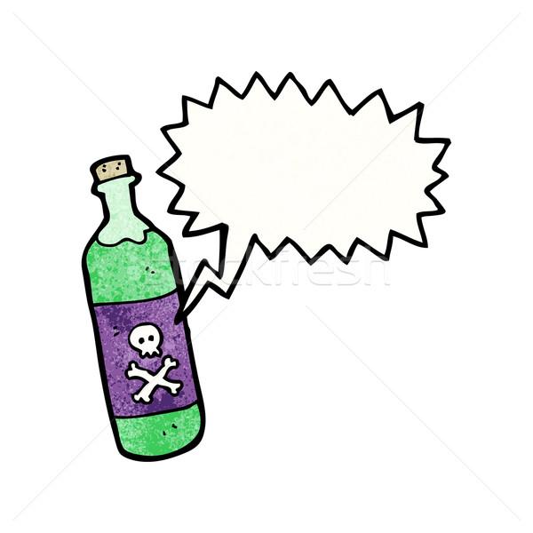 Desenho animado veneno garrafa arte retro desenho Foto stock © lineartestpilot